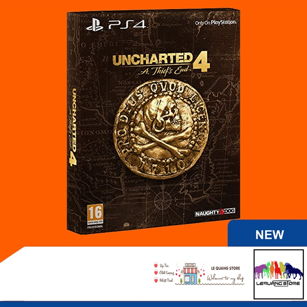 Đĩa Game PS4: Uncharted 4: A Thief's End Special Edition (Steelbook)