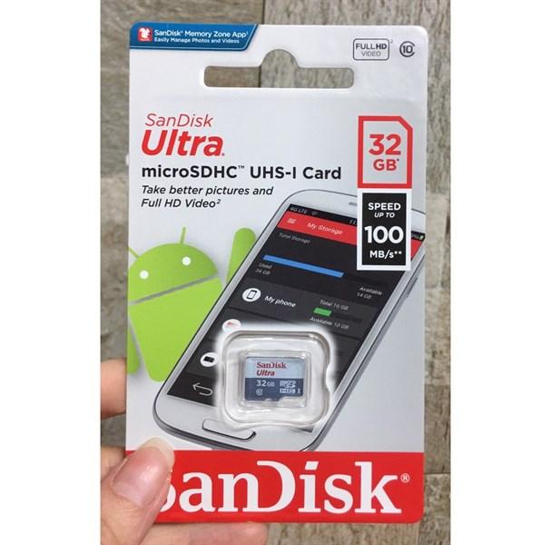 Thẻ nhớ nhỏ sandisk 32GB - 12 tháng