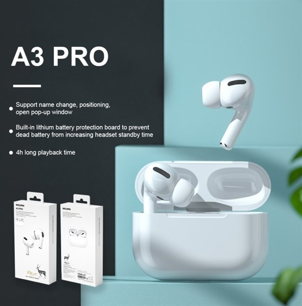 Tai nghe airpods Pro WK A3 Pro - 3 tháng