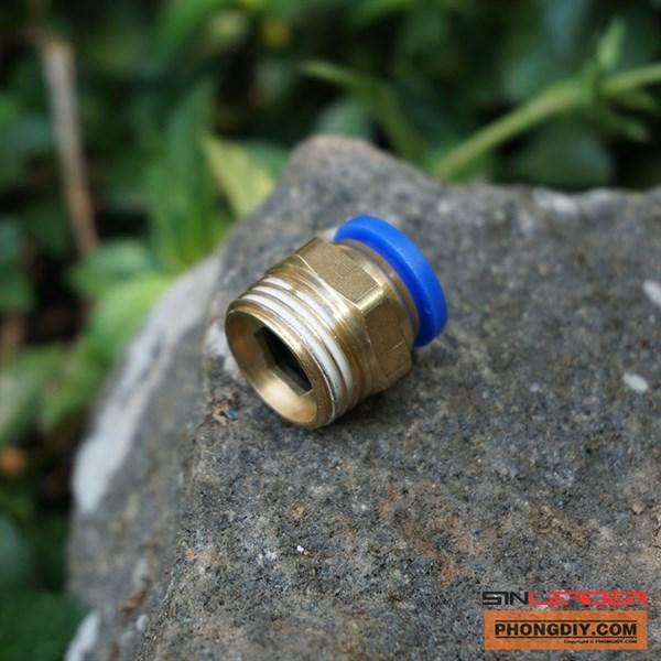 Nối nhanh ren ngoài 21-12mm (Đồng)