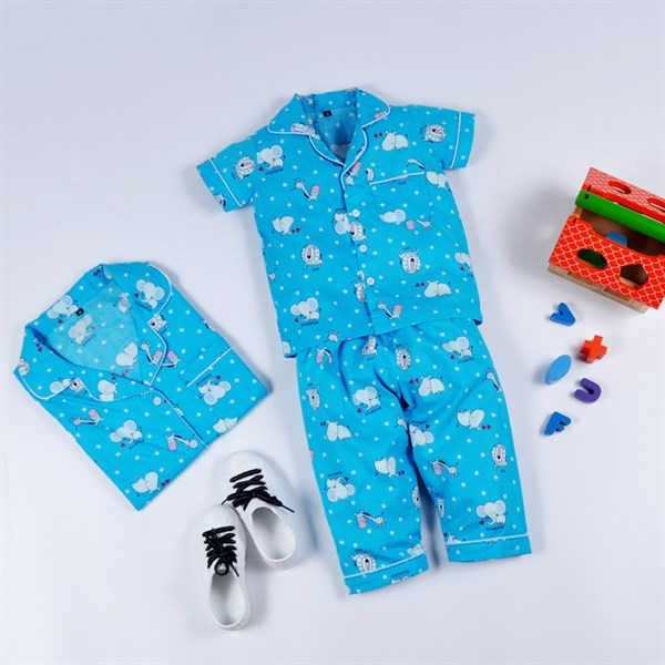 Pyjama Dài Xanh Thú - PD020.4 - MS20.130.10