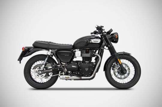 Pô Zard Full System Mirror Polished Triumph Bonneville T100 2017>