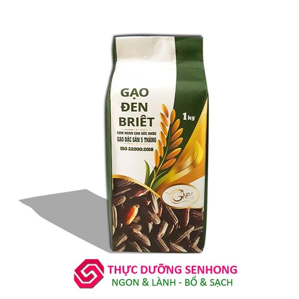 Gạo lứt đen Briet (1kg) Gạo sạch hữu cơ của Hợp tác xã giảm nghèo Ea Súp Đăk lăk