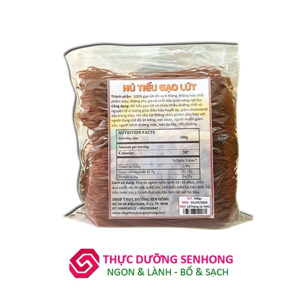 Hủ tiếu gạo lứt (sợi 2mm)