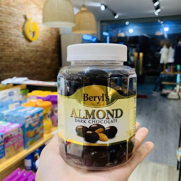 Socola Beryls Almond Dark Choco (Trắng) 350g