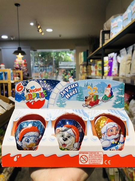 Trứng Kinder socola 120g -(6 cái) Phiên bản Noel