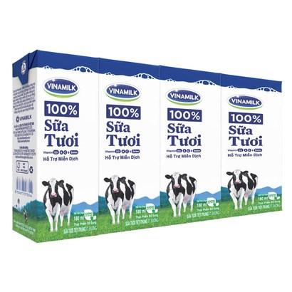 Sữa Vinamilk ít đường 180ml