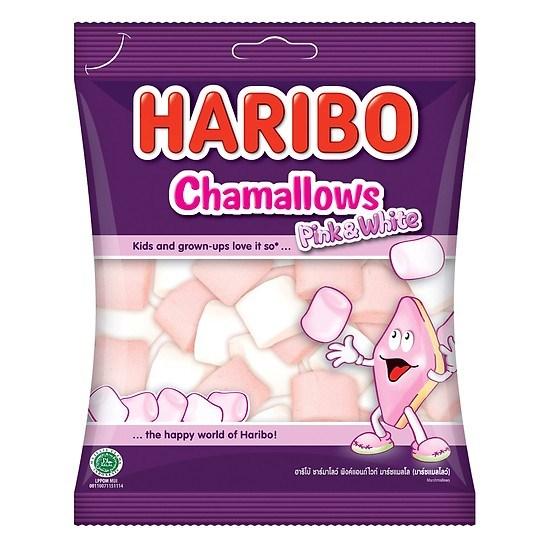 Kẹo xốp Haribo Chamallows Pink & White 70g
