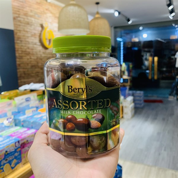 Socola Beryls Assorted Milk Choco (xanh lá) 350g