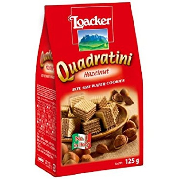 Bánh xốp Quadratini Kem hạt dẻ Loacker 125g