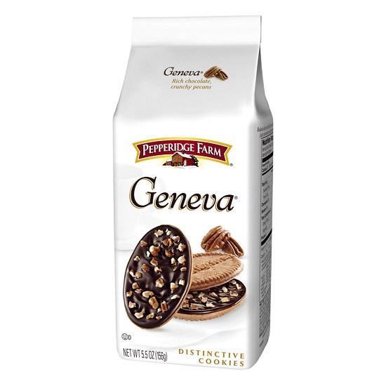 Bánh vị chocolate đen và hạt bồ đào Geneva Pepperidge Farm 156g