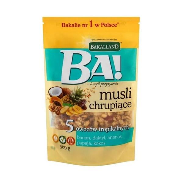 Ngũ cốc Bakalland 5 Tropical Fruits & Honey 300g
