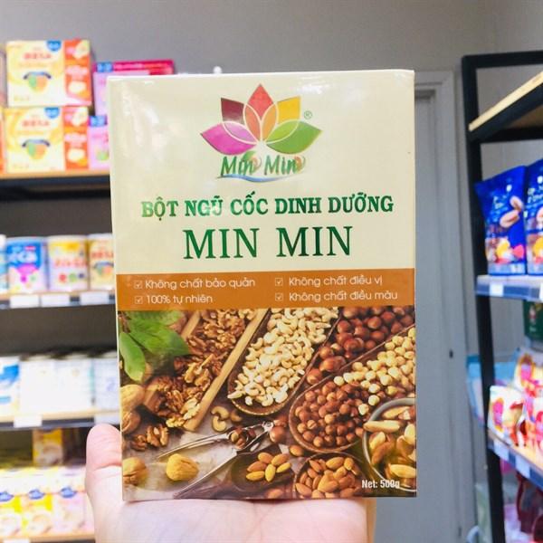 Bột ngũ cốc dinh dưỡng Min Min 500g