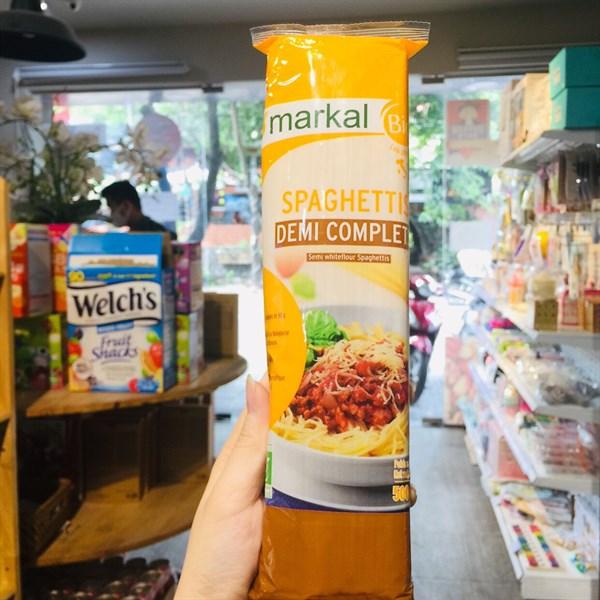 Mì Spaghetti bán lứt hữu cơ Markal Pháp (500g)