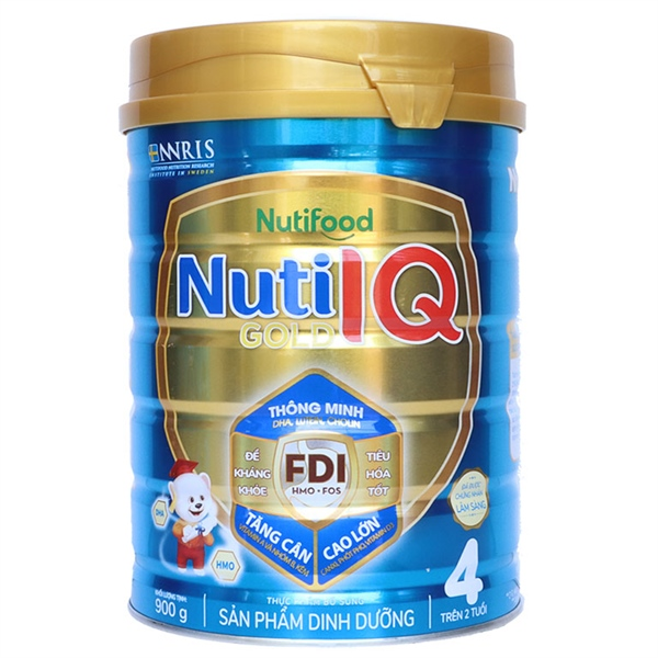 Sữa bột Nuti IQ Gold Step 4 900g Mới