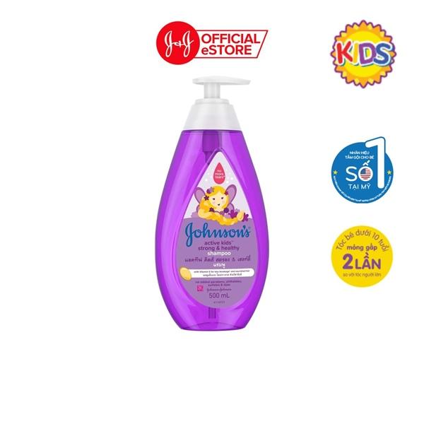 Dầu gội tóc chắc khỏe Jonhson's active kids strong & healthy 200ml (Tím)