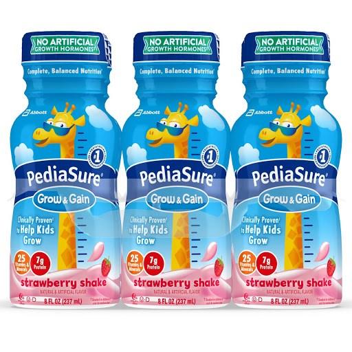 Sữa Pediasure Mỹ dạng nước vị dâu 237ml cho bé từ trên 2 tuổi (Thùng 24 chai)