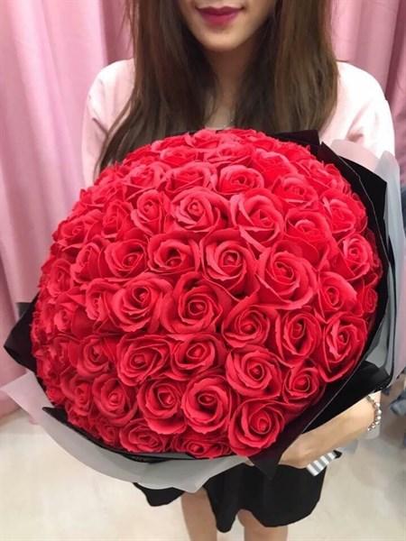Bó hoa hồng sáp 99 bông