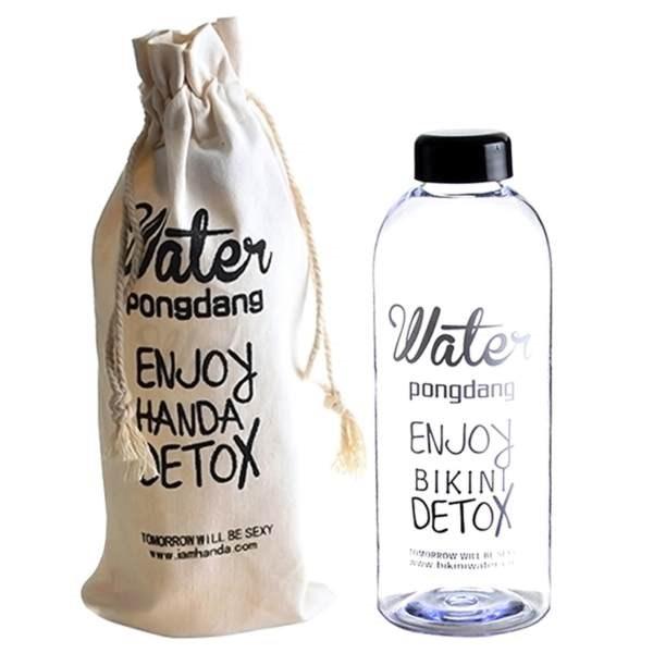 bình nước Detox 1l nhựa có bao