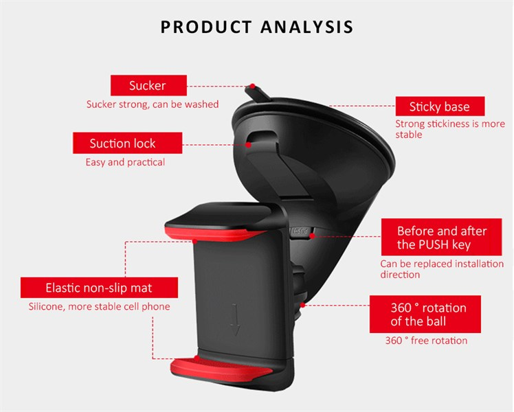 Giá đỡ điện thoại silicone sucker mẫu mới - HOT