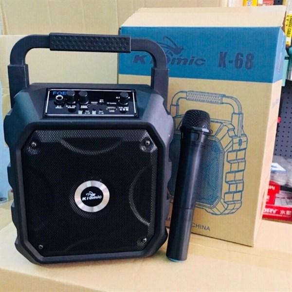 Loa bluetooth K68 + Mic không dây