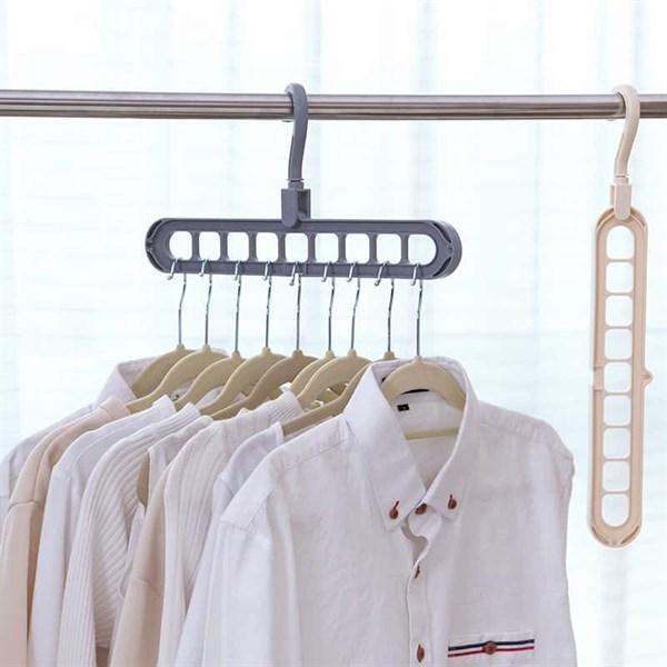 móc treo quần áo đa năng 9 lỗ