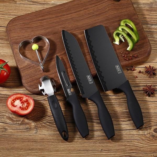 Bộ dao nhà bếp 5 món đen cao cấp