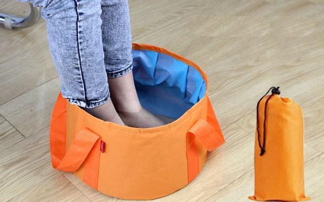 Túi ngâm chân thư giản kèm túi đựng - xanh