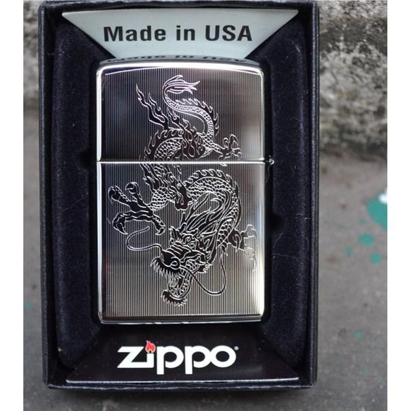 Hộp quẹt zippo USA trắng loại xịn