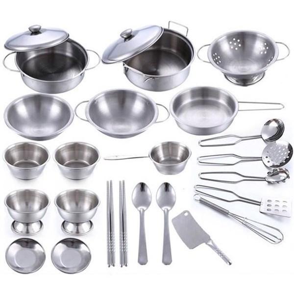 Bộ đồ chơi nấu ăn 30 món inox 304