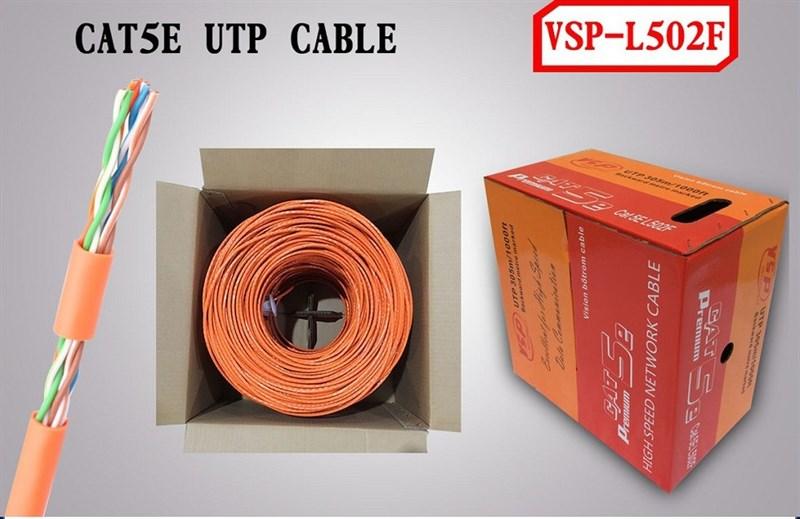 Cáp Mạng VSP UTP 5E-L502F-Cáp Dây Cam -305m