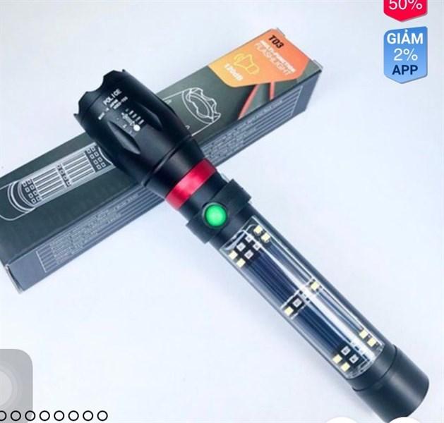 Đèn pin đa năng T03 có còi hú cao cấp