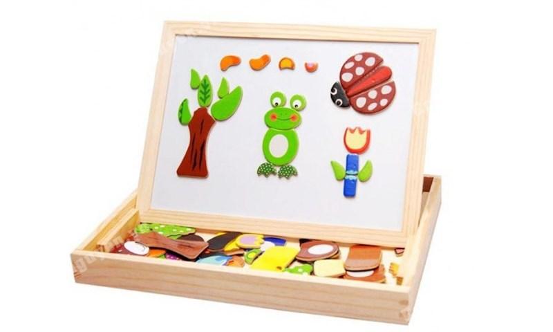 Bộ ghép hình bằng gỗ nam châm cho bé