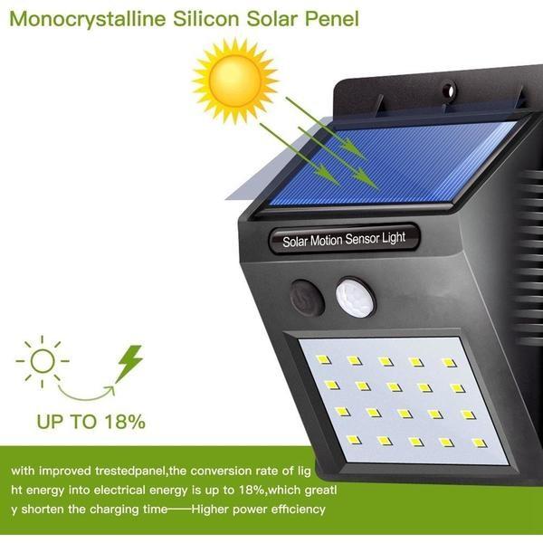 Đèn cảm biến hồng ngoại xài năng lượng mặt trời