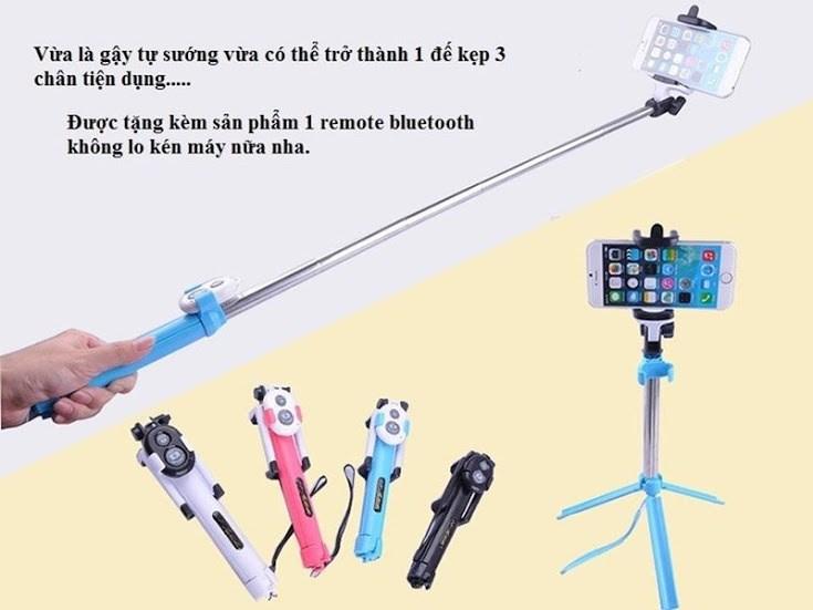 gậy chụp hình 3 chân WXY-01 có remote