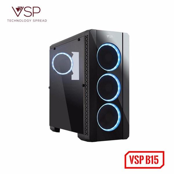 Case VSP Gaming B15 mặt gương nắp hông trong suốt