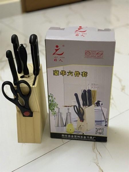 bộ dao 5 món có hộp để dao