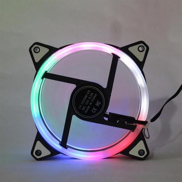 Fan Case 12cm - Led 15 bóng 7 màu Rainbow
