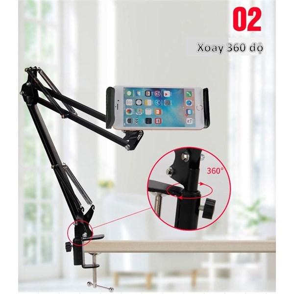 Chân kẹp điện thoại/ ipad xoay 360 độ