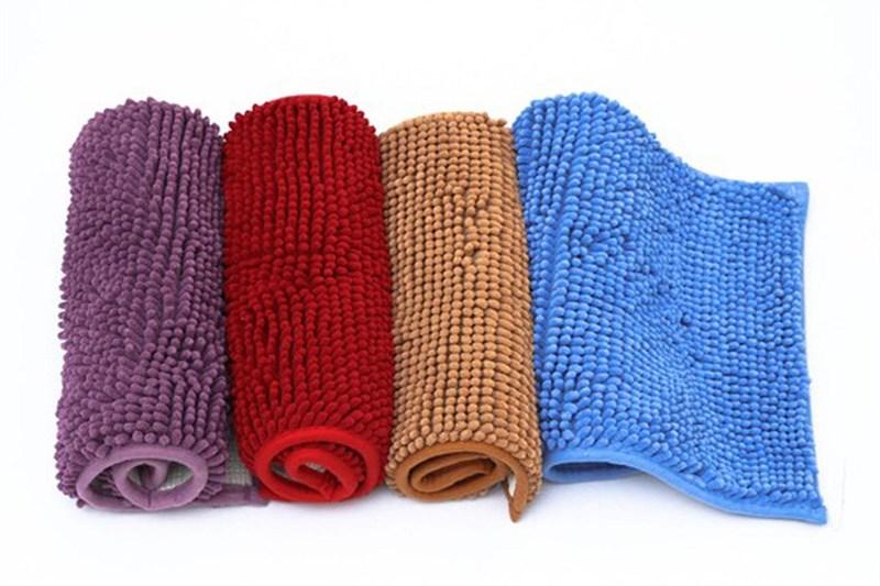thảm chùi chân san hô vuông ( vải len mềm mại )