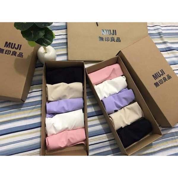 Combo 5 quần lót đúc xu Muji có hộp, túi xách loại đẹp