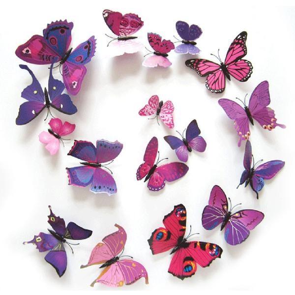 Combo 12 con bướm dán tường