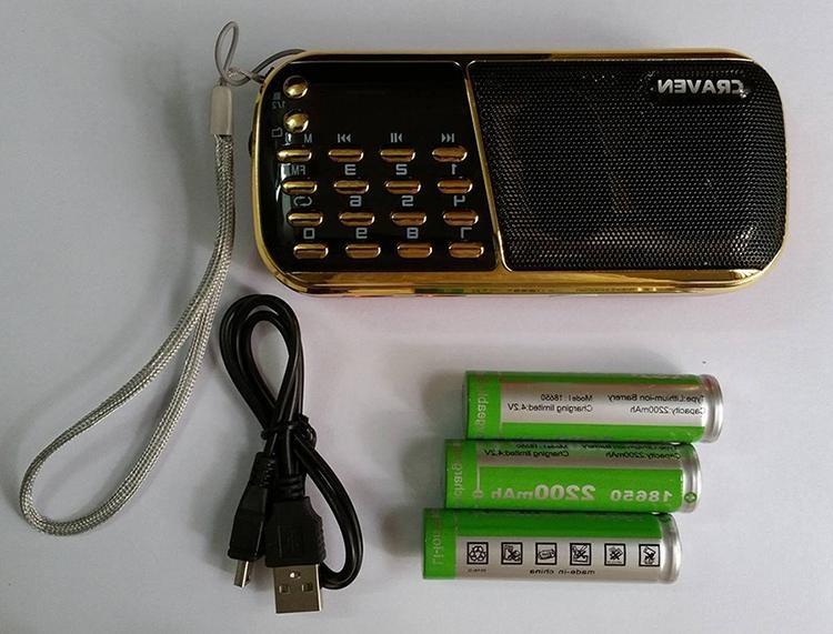 Loa thẻ nhớ Craven CR-853 xài 3 pin