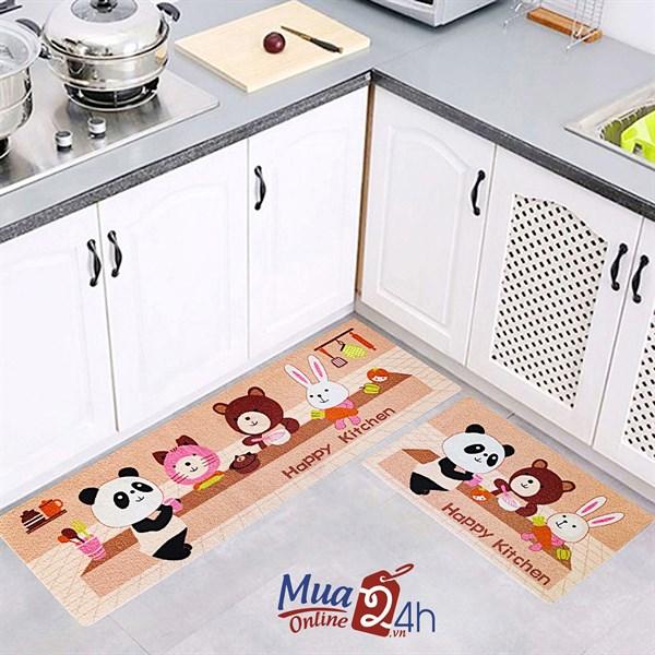 COMBO 02 Tấm Thảm Trải Bếp Hoa Đá