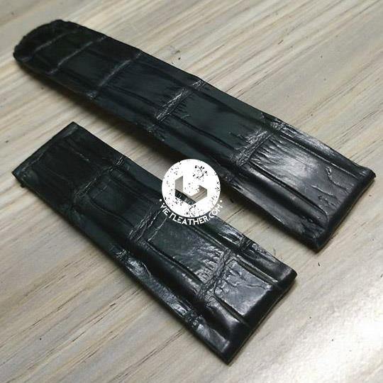 Dây đồng hồ da cá sấu handmade