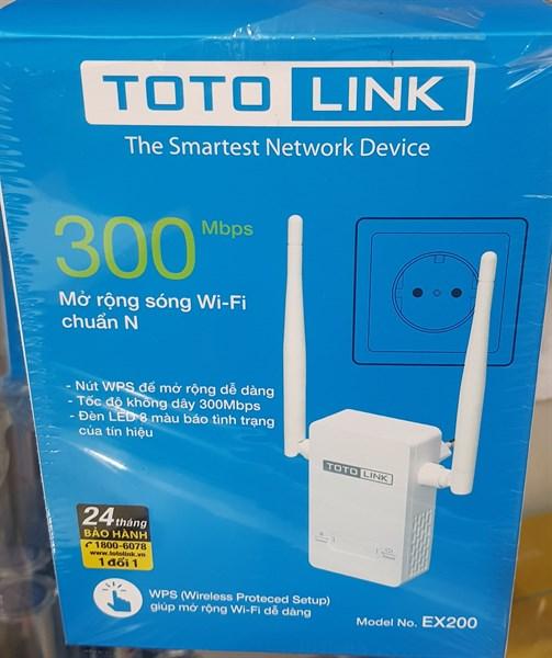 kích sóng wifi totolink ex200 300Mb ( mua về,phí kết nối tại nhà 50- 100k )