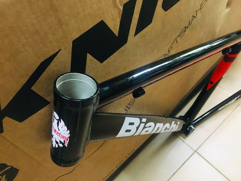 Khung Nhôm Bianchi Touring - Size 17 - ( Màu Đỏ Đen) (Chiếc)
