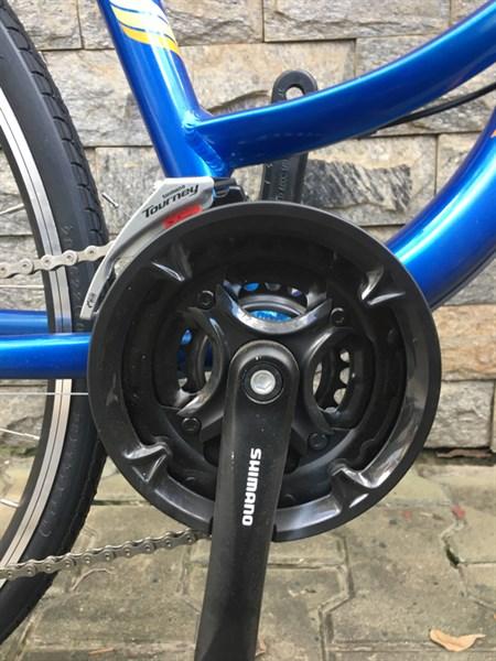 Xe WOLF mini ngỗng, màu xanh, 3x8 Shimano, Altus. (chiếc)