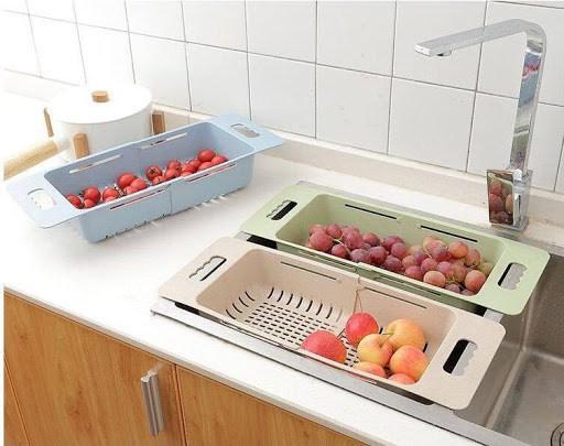 Rổ gác bồn rửa bát điều chỉnh kích thước tiện dụng