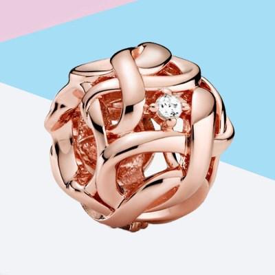 Openwork Woven Infinity Rosegold Charm